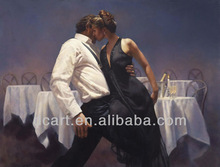New arrival handmade dance couple painting on canvas