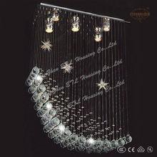 2013 cheap star shape modern crystal chandelier for girl room from china ETL82030