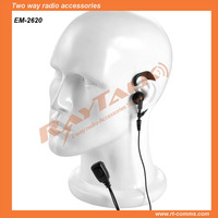 walkie talkie headset earpiece for radio Police Ear Hook Earphone with Small Lapel PTT microphone for THR880i