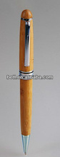 wood/bamboo ball pen with metal clip