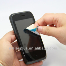 Adhesive microfiber mobile phone Sticker Screen Cleaner FACTORY