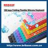 Cheap Waterproof 109Keys Multi-color Foldable silicon Waterproof keyboard