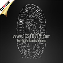 Crystal Mother of God custom cheap rhinestone iron on transfers