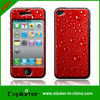 pure red gel skin for apple phone gel epoxy cover