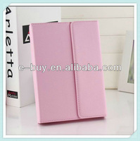 high quality with wireless bluetooth keyboard ipad leather case cover for ipad2 3 4