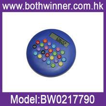Hamburger style plastic calculator BW086