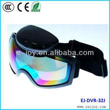 Colorful double anti-fog Lens Ski Goggle Camera Glasses Camera 720p&EJ-DVR 32J