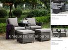 Garden furniture alum rattan sofa