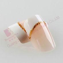 glitter line french fake nail tips design false nails