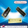 Good Metal Name Badges Pin Clip Holder With Safery Pin Black Soft Enamel