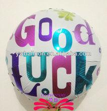 18 inch good luck foil balloon