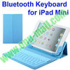Basketball Pattern Bluetooth Keyboard Leather Case for the iPad Mini (Blue)