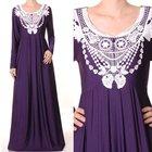 Muslim Islamic Long Sleeves Abaya Dress
