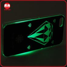 Fashion Calling Sense Color Change Flash Light Hard Skin LED Case for iphone 5