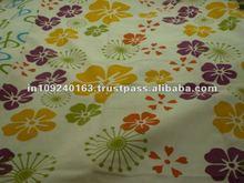 Cotton satin printed bedding fabric