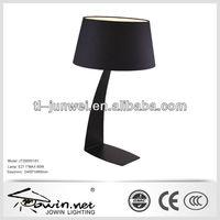 black hotel bedroon reading lamp