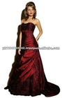 Dark Red Wedding Dress