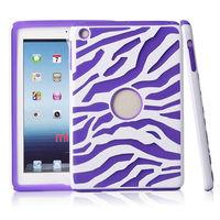 PC+silicone combo case zbra design cover for ipad mini