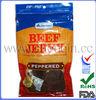 Heat seal printed plastic bags for beef jerky packaging