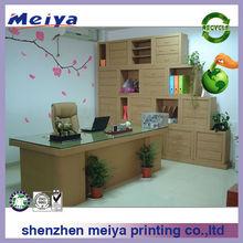 Fashion corrugated cardboard paper office cupboard/desk display