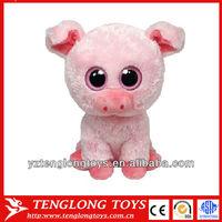 Promotional cute plush pig toys Big eyes pig toys for children