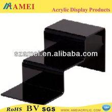 Hot sale acrylic black walnut wooden shoe rack