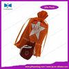 Round red mini velvet bag,velvet gift bag