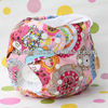Ohbabyka Double Row Snaps Reusable Washable Flower Cloth Diapers Baby Nappy