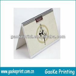 folding paper desk calendar 2014