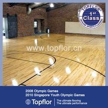 Glossy Anti-slip Basketball PVC Wood Court Laminated Sports Flooring