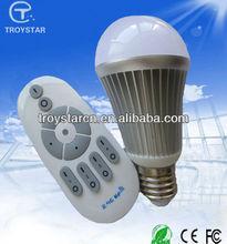 Color temperature and brightness adjustable with remote controller 6w e27 strobe bulbs