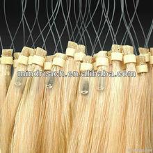 2013 Wholesale top quality Brazilian virgin loop hair extension for salon hair stylist, accept escrow