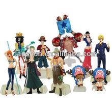 New 10pcs One Piece POP Anime Figures 12cm New World Luffy Zoro Nami Loose