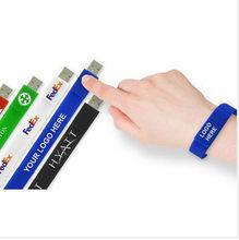 Silicone USB bracelet, hand band USB flash drive ,cheapest hand band USB flash pendrive