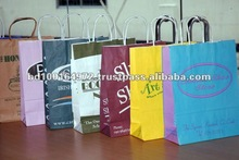 80/100/120GSM Twisted Handle Recycle Shopping Bag