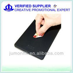 Microfiber phone cleaner sticker