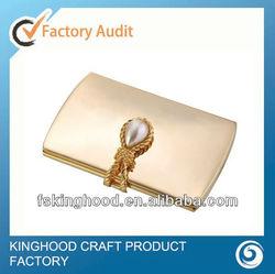 M32017I Wedding gift gold pocket mirror/Purse pocket mirror