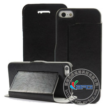 Ultra slim leather case for iPhone 5, for iPhone 5 retro leather case
