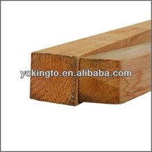 Sawn timber wood slab cedar wood fence post