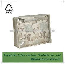 soft square clear zipper compound bag