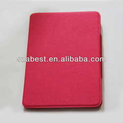 Twill Pattern Leather Case For iPad Mini With Foldable Stand,Leather Cover For Apple iPad Mini