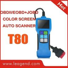 OBD2/EOBD JOBD Multi Car DIY Scan Tool/fault auto code reader color-screen T80-review live data and datastream graph