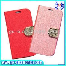 Elegant design leather flip open custom case fold for iphone 4/4s