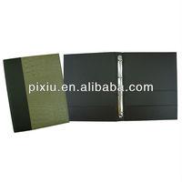 artificial leather handmade design paper file folder A5 size