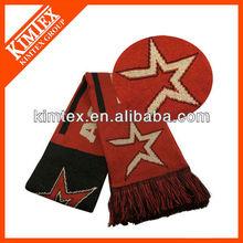 Jacquard knitting pattern scarf