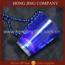 60ML Flashing LED Plastic Shot Glass With Necklace