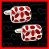 make your own cufflinks enamel polished