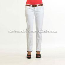 White Khaki trousers for women