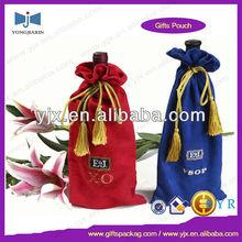velvet wine package tassel drawstring bag purchase