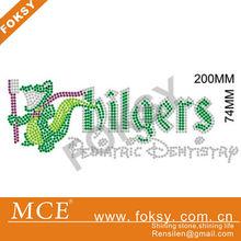 crocodile/alligator hot fix iron on rhinestones designs